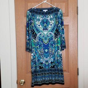 Sandra Darren Bell Sleeve Sheath Dress